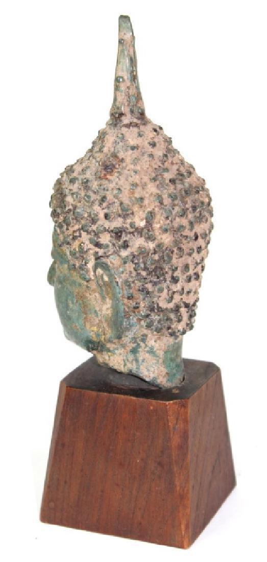 Chinese Buddha Head Bronze - 4
