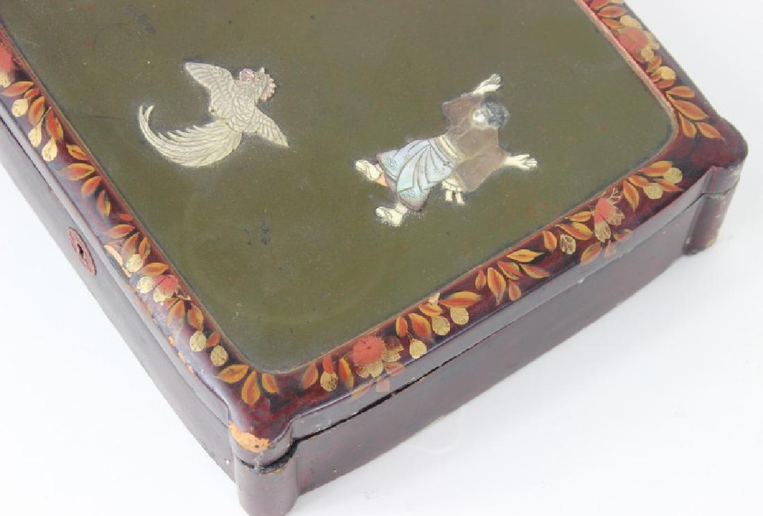 Chinese Inlaid Wooden Box - 5