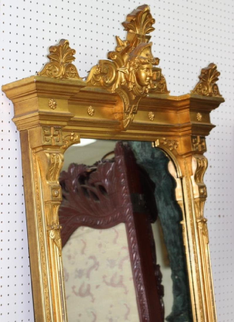 7ft. Victorian Gilt Painted Medusa Head Mirror