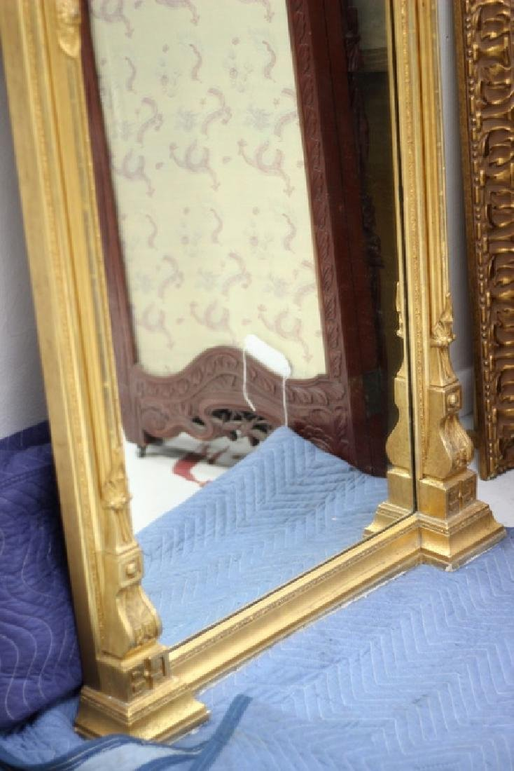 7ft. Victorian Gilt Painted Medusa Head Mirror - 5