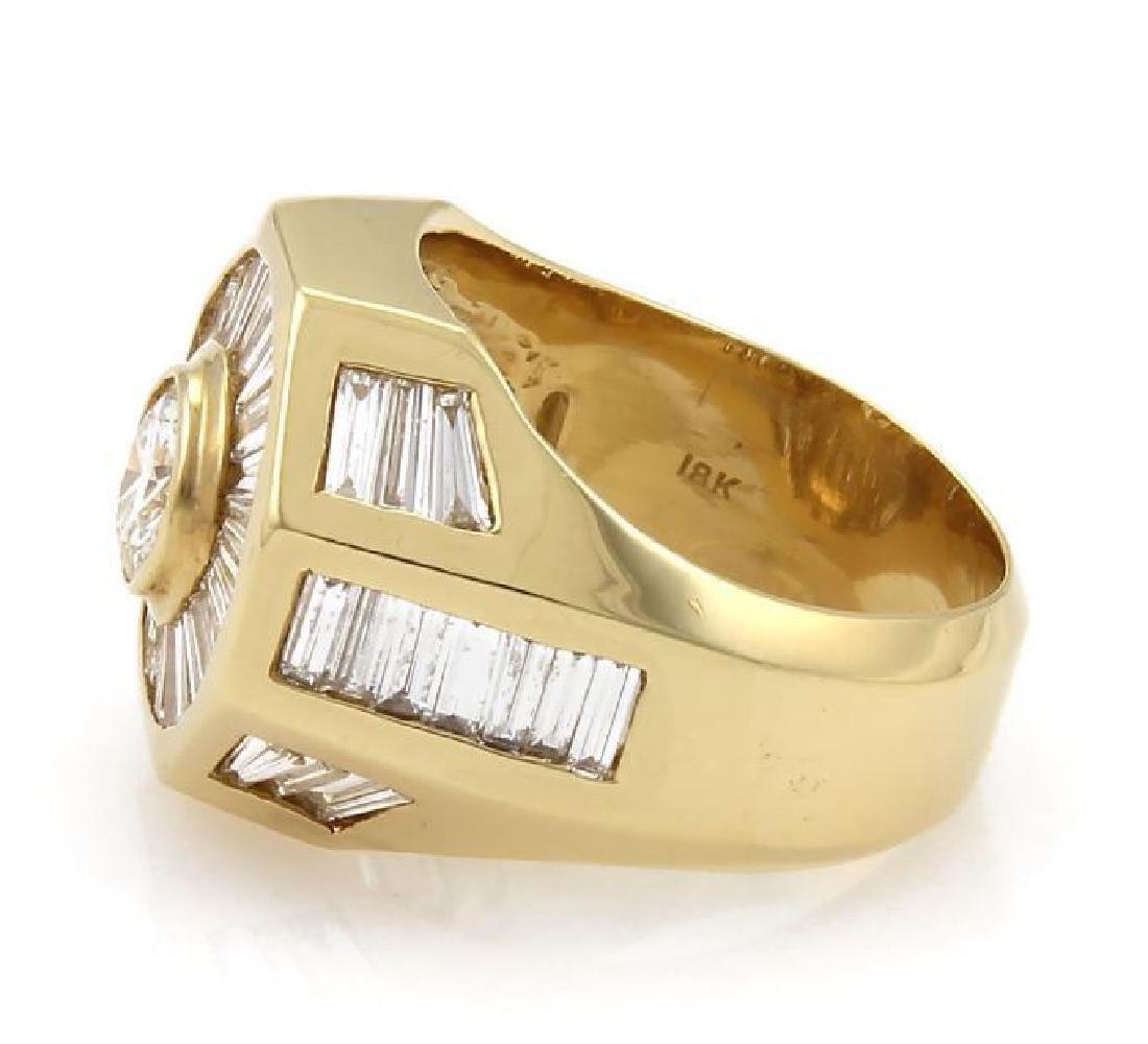 5.40ct Diamond 18k Gold Octagon Shape Ring - 2