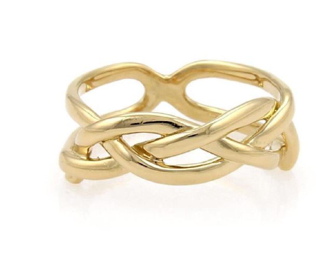 Tiffany & Co Vintage 18k Yellow Gold Infinity Ring
