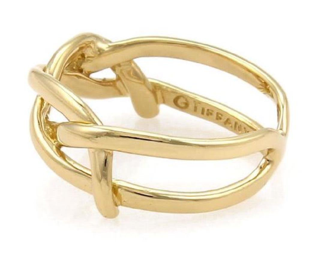 Tiffany & Co Vintage 18k Yellow Gold Infinity Ring - 2