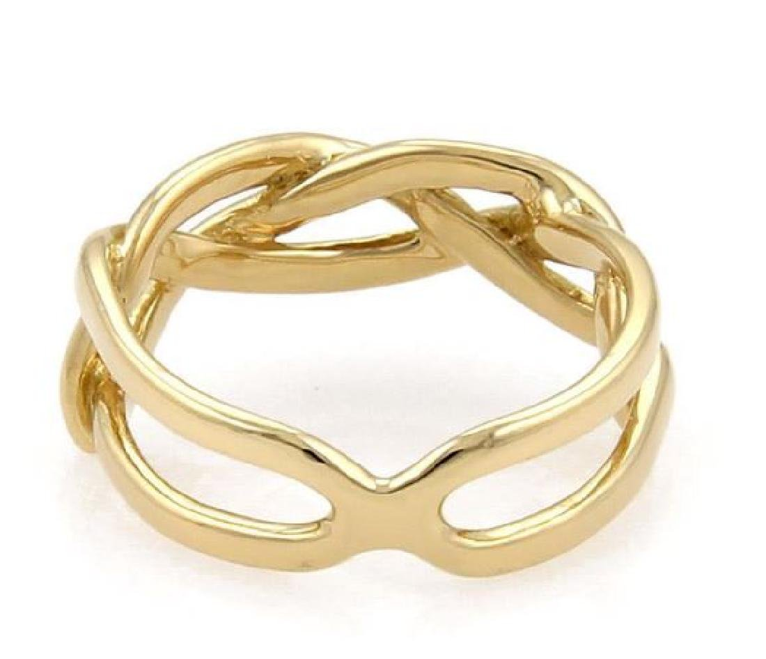 Tiffany & Co Vintage 18k Yellow Gold Infinity Ring - 3