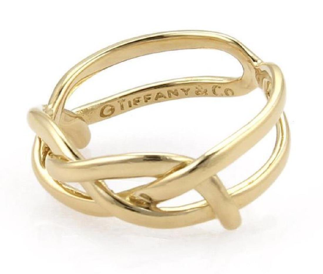 Tiffany & Co Vintage 18k Yellow Gold Infinity Ring - 4