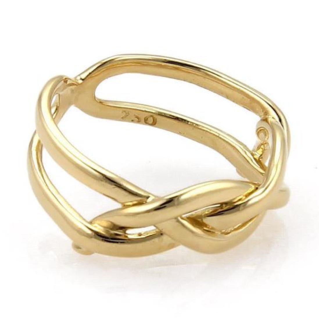 Tiffany & Co Vintage 18k Yellow Gold Infinity Ring - 5