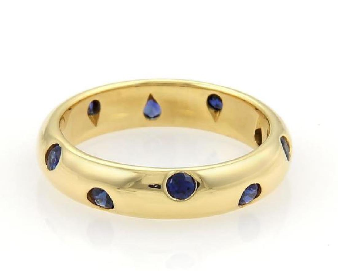 Tiffany & Co. Etoile Sapphire 18k Gold Dome Ring