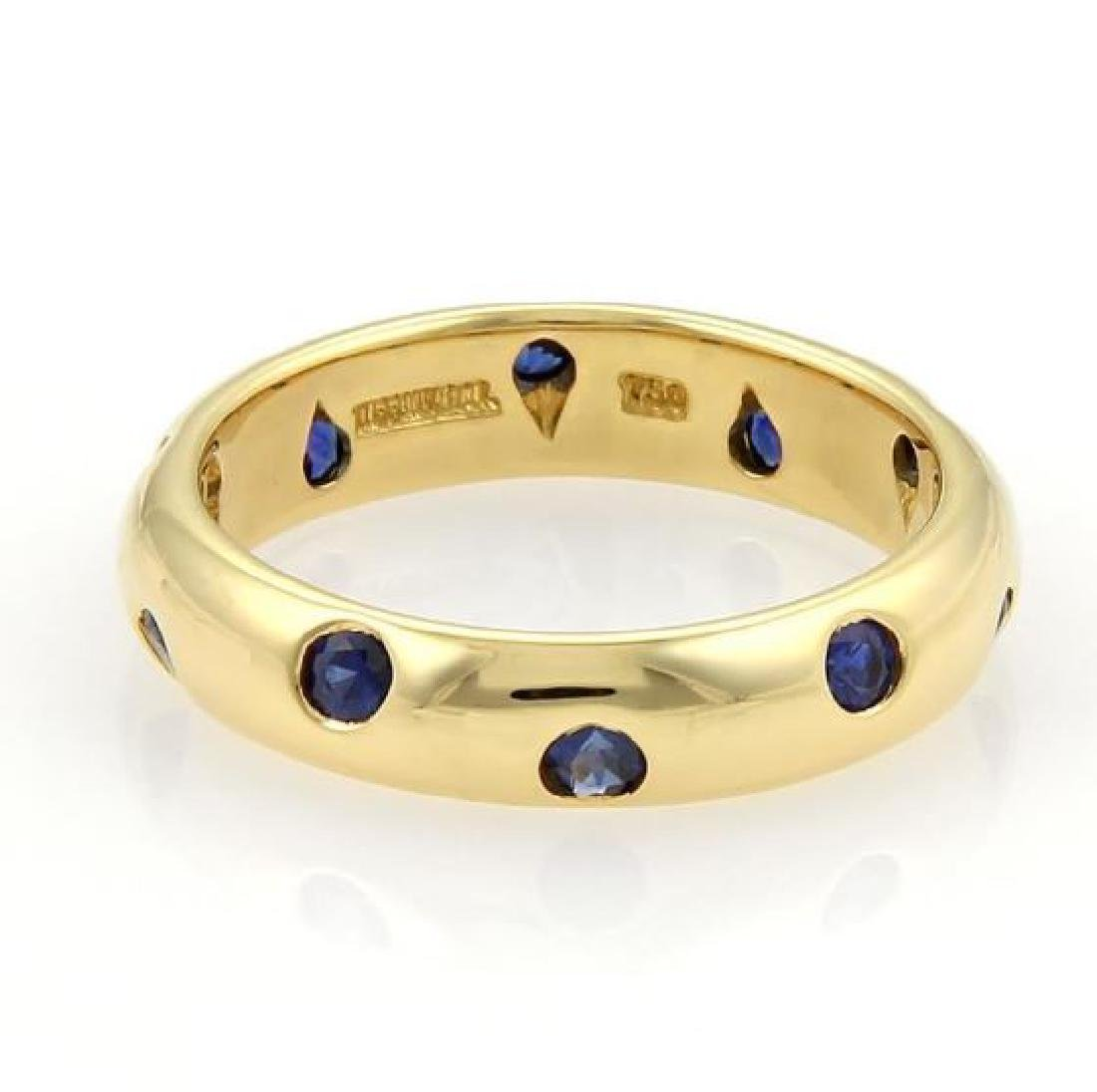 Tiffany & Co. Etoile Sapphire 18k Gold Dome Ring - 3