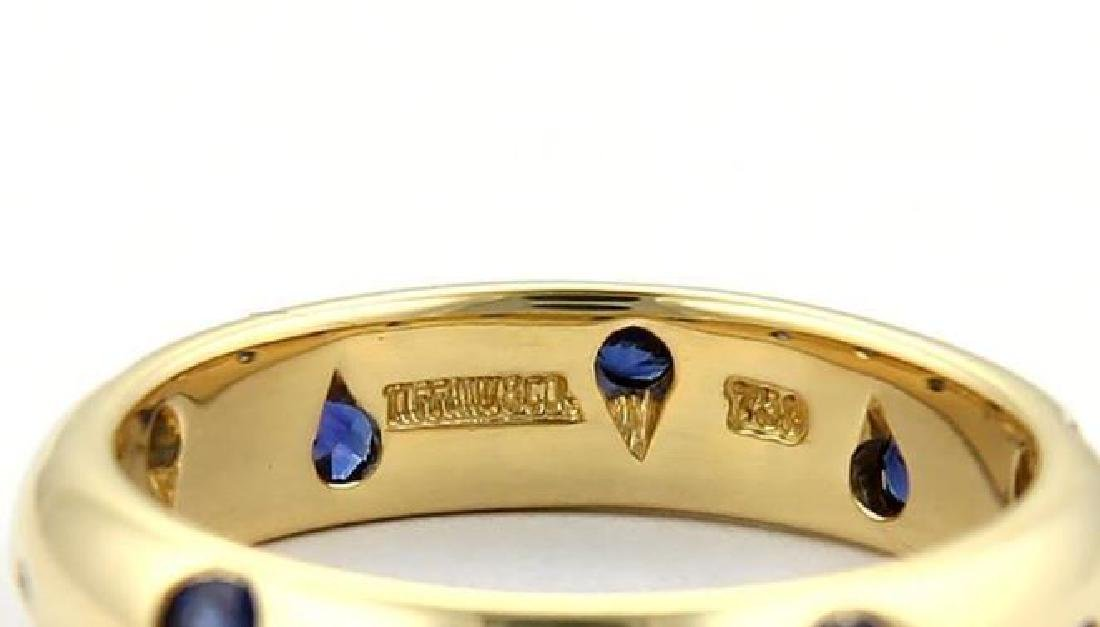 Tiffany & Co. Etoile Sapphire 18k Gold Dome Ring - 4