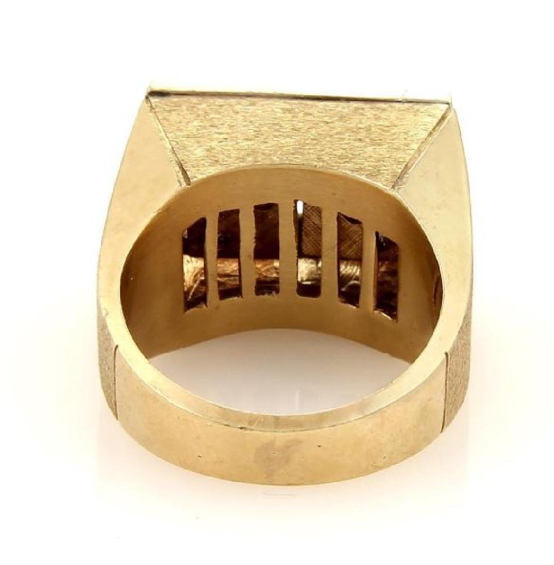 Diamond 14k Gold Spinning Dice Gambler Ring - 4