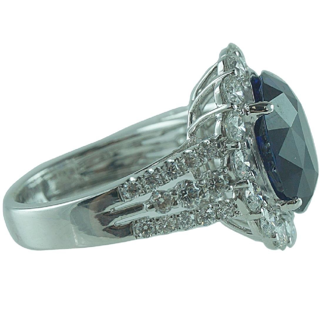 AGL Certified,8.41CT Sapphire. 2.12CT Diamond Ring - 2