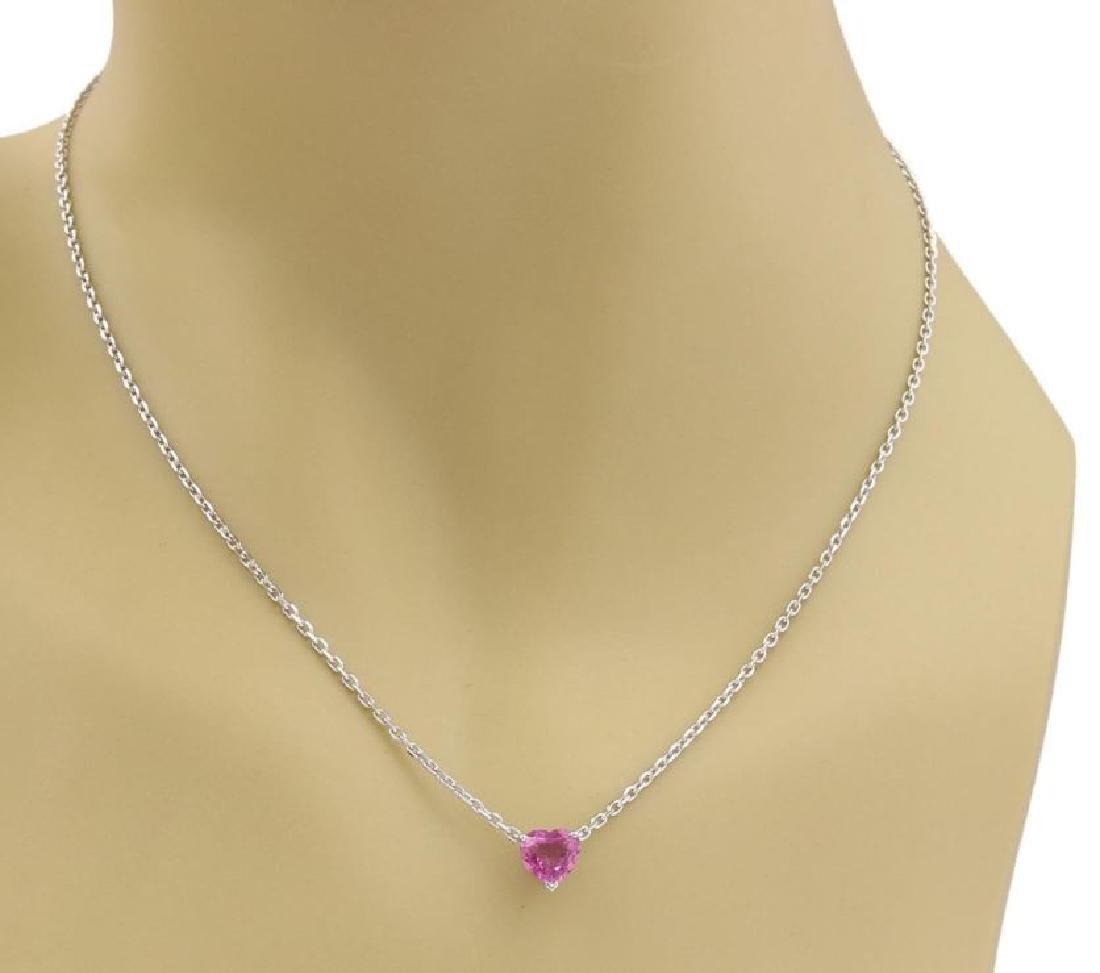 Cartier Sapphire 18k Gold Heart Pendant Necklace - 2