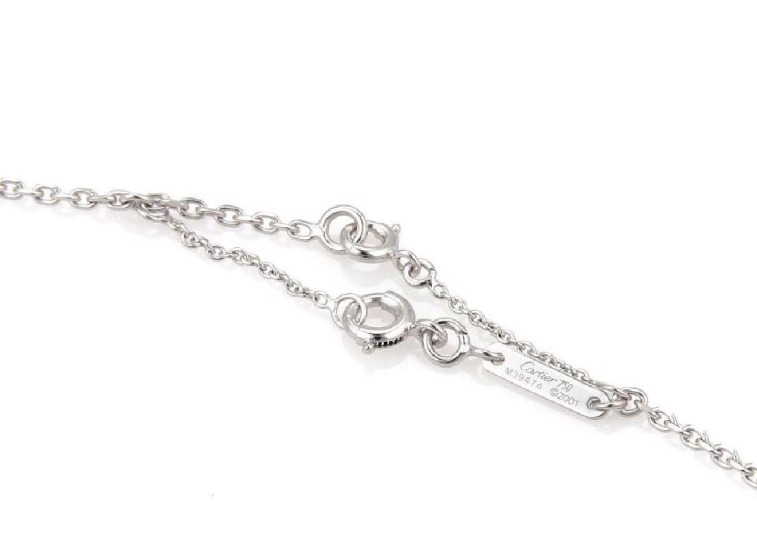 Cartier Sapphire 18k Gold Heart Pendant Necklace - 5