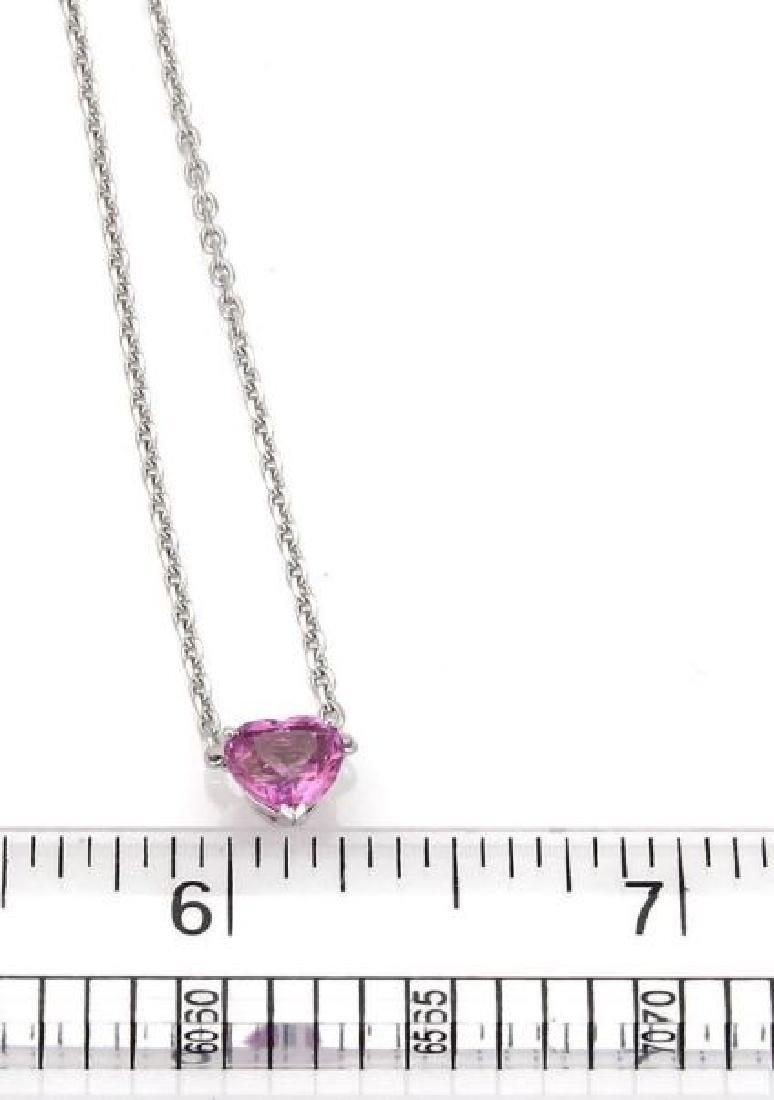 Cartier Sapphire 18k Gold Heart Pendant Necklace - 7