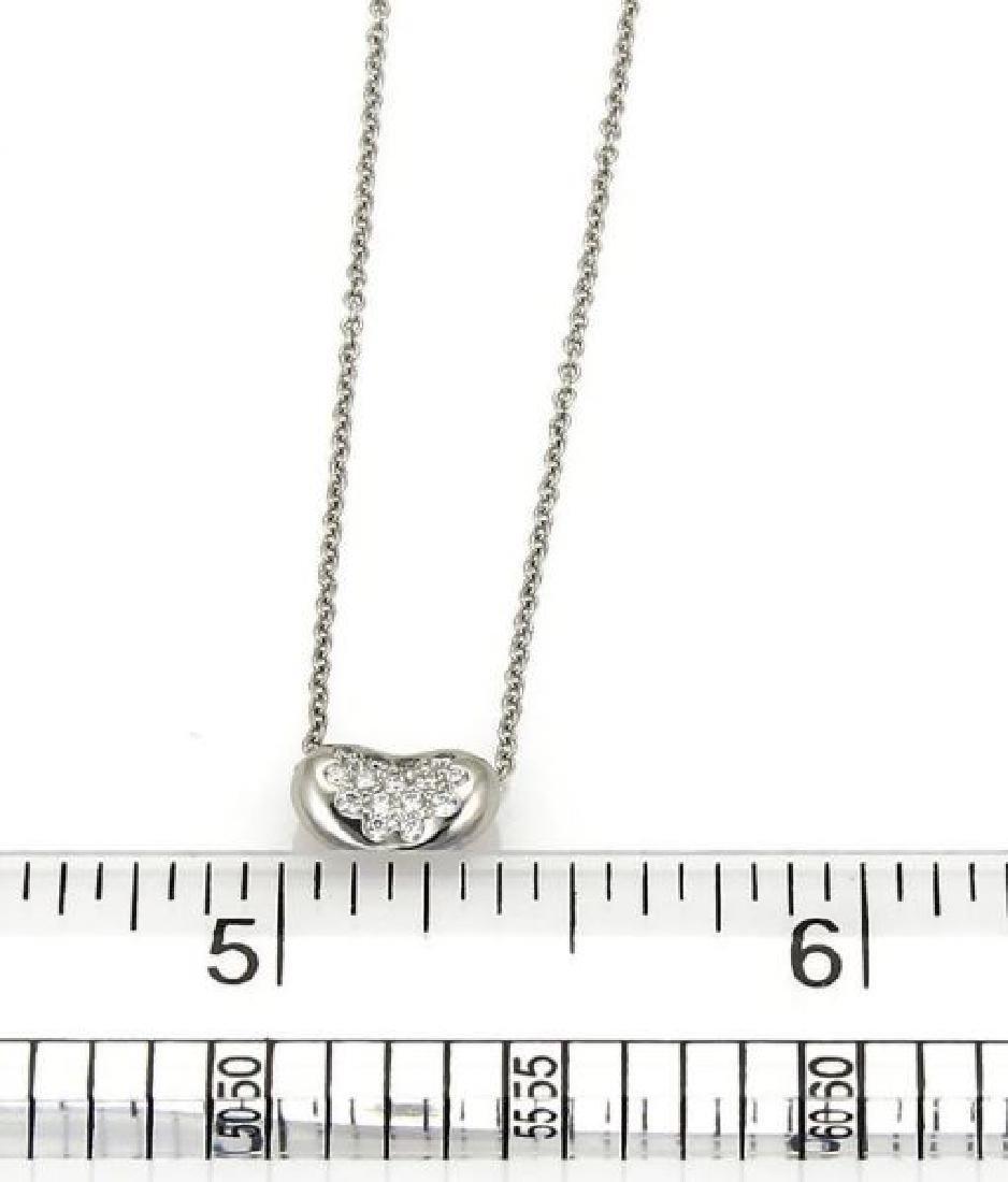 Tiffany&Co Diamond Platinum Bean Pendant Necklace - 3