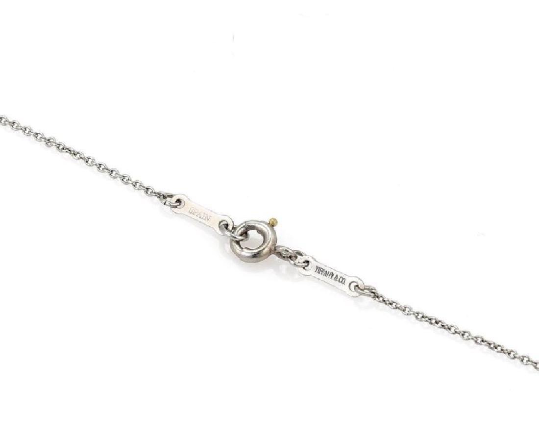 Tiffany&Co Diamond Platinum Bean Pendant Necklace - 5