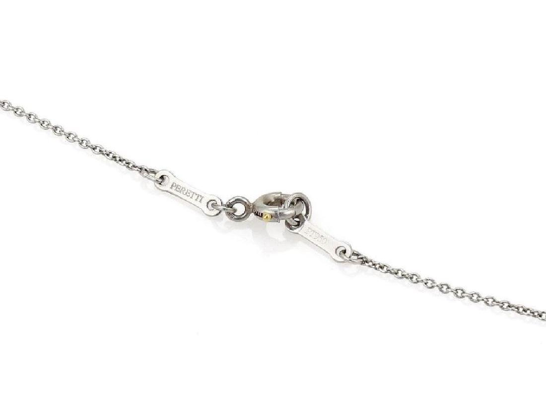 Tiffany&Co Diamond Platinum Bean Pendant Necklace - 6
