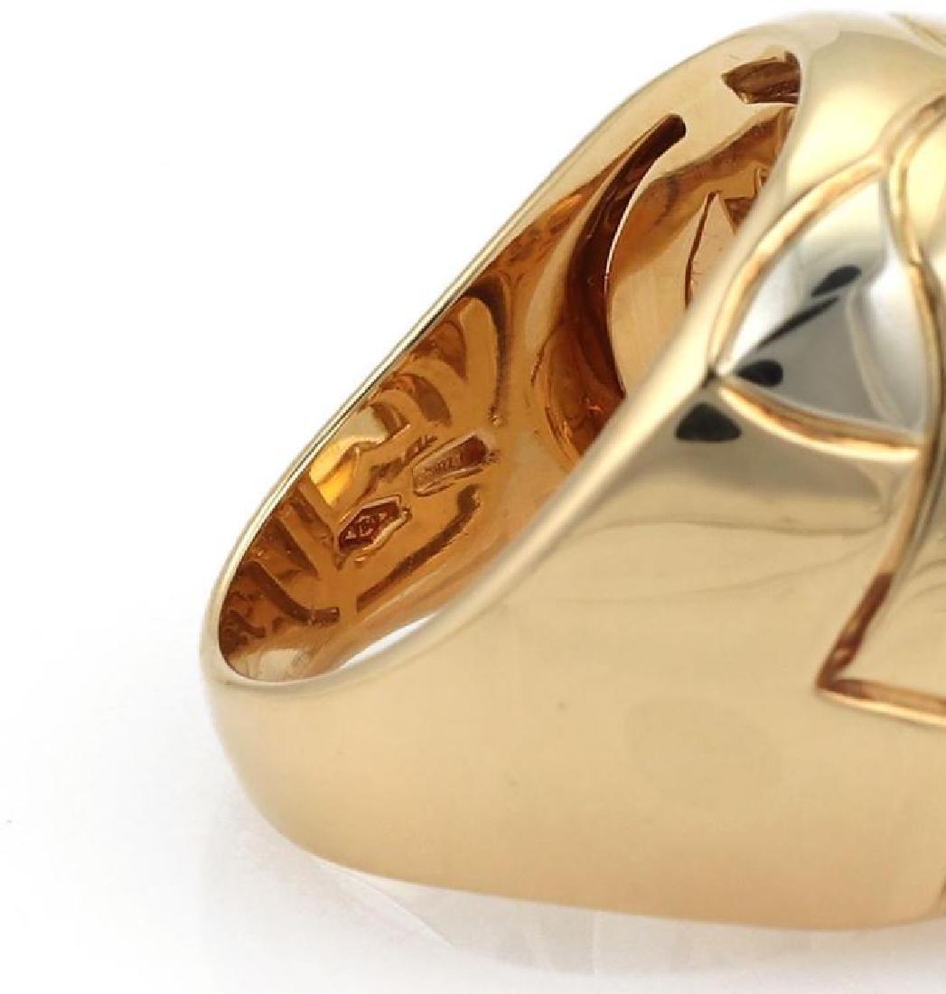 Bvlgari Pyramide Citrine 18k Gold Floral Ring - 5
