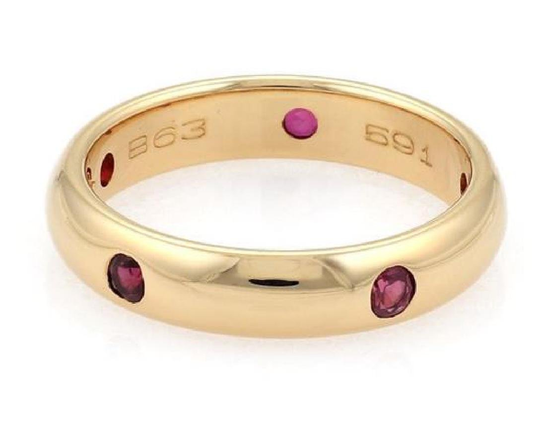 Cartier Stella Ruby 18k Gold 4mm Dome Band Ring - 4