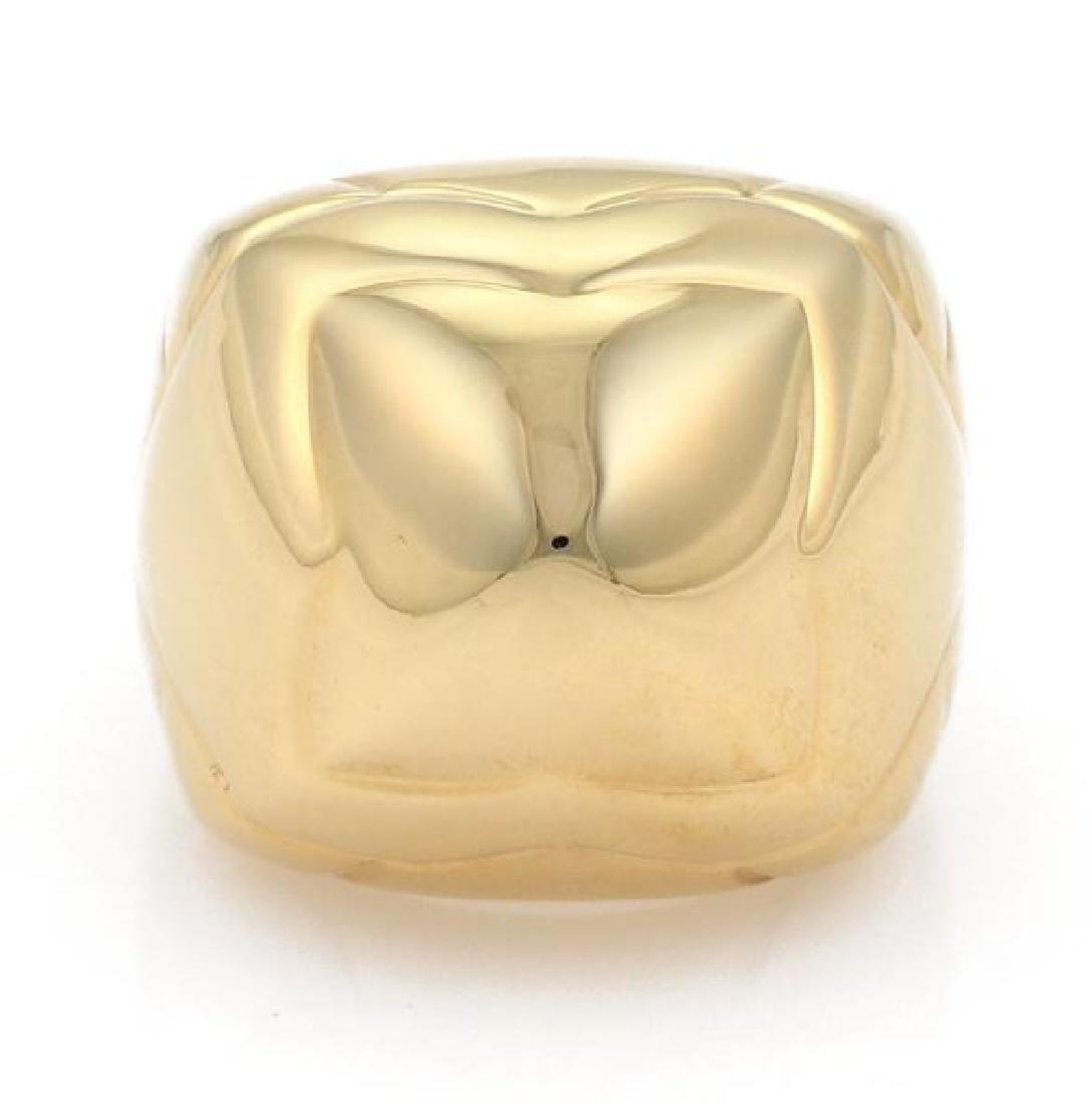 Bvlgari Pyramide 18k Gold Flora Design Ring