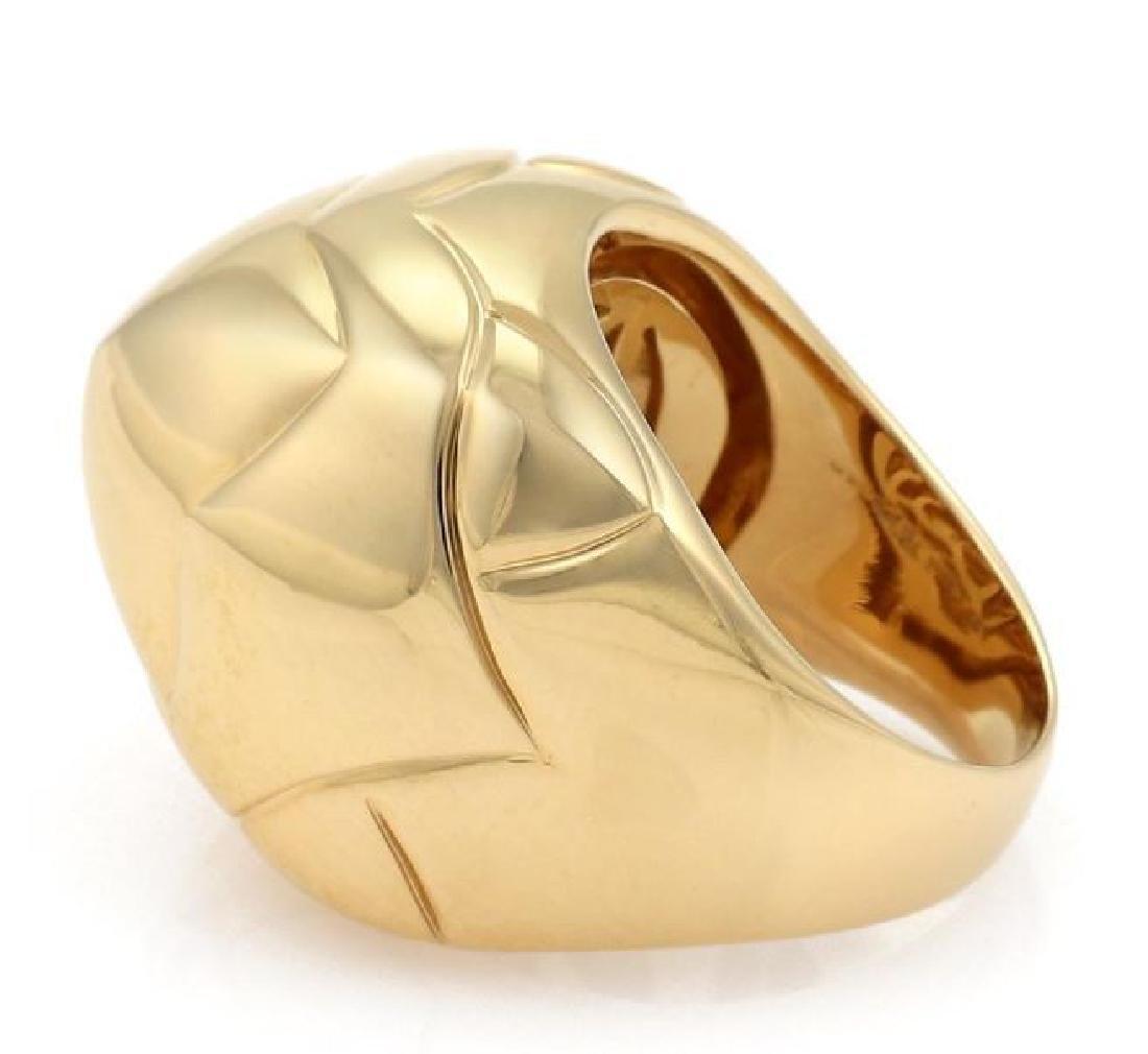 Bvlgari Pyramide 18k Gold Flora Design Ring - 2