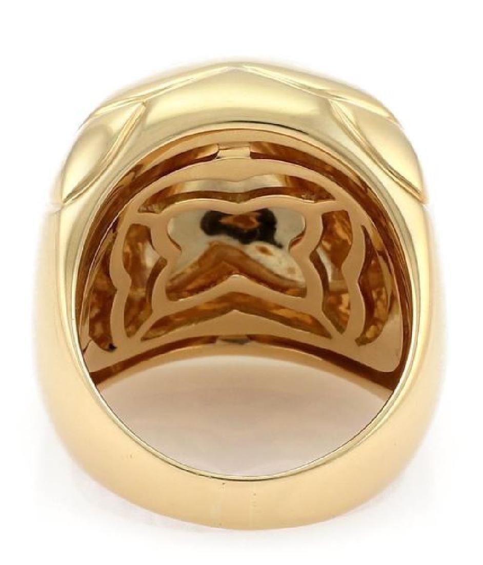 Bvlgari Pyramide 18k Gold Flora Design Ring - 3