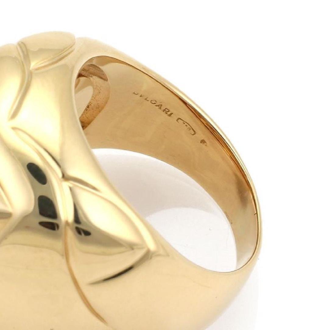 Bvlgari Pyramide 18k Gold Flora Design Ring - 4