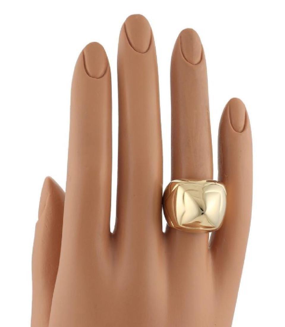 Bvlgari Pyramide 18k Gold Flora Design Ring - 5