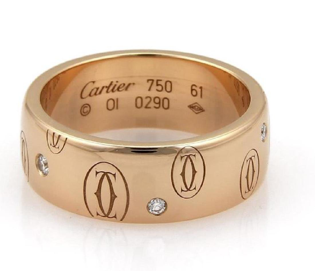 Cartier Happy Birthday Diamond 18k Gold Wide Ring