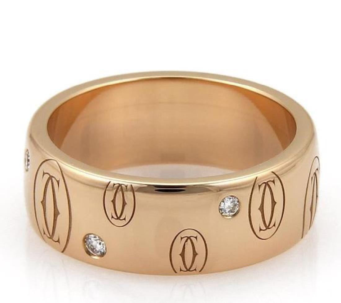 Cartier Happy Birthday Diamond 18k Gold Wide Ring - 2