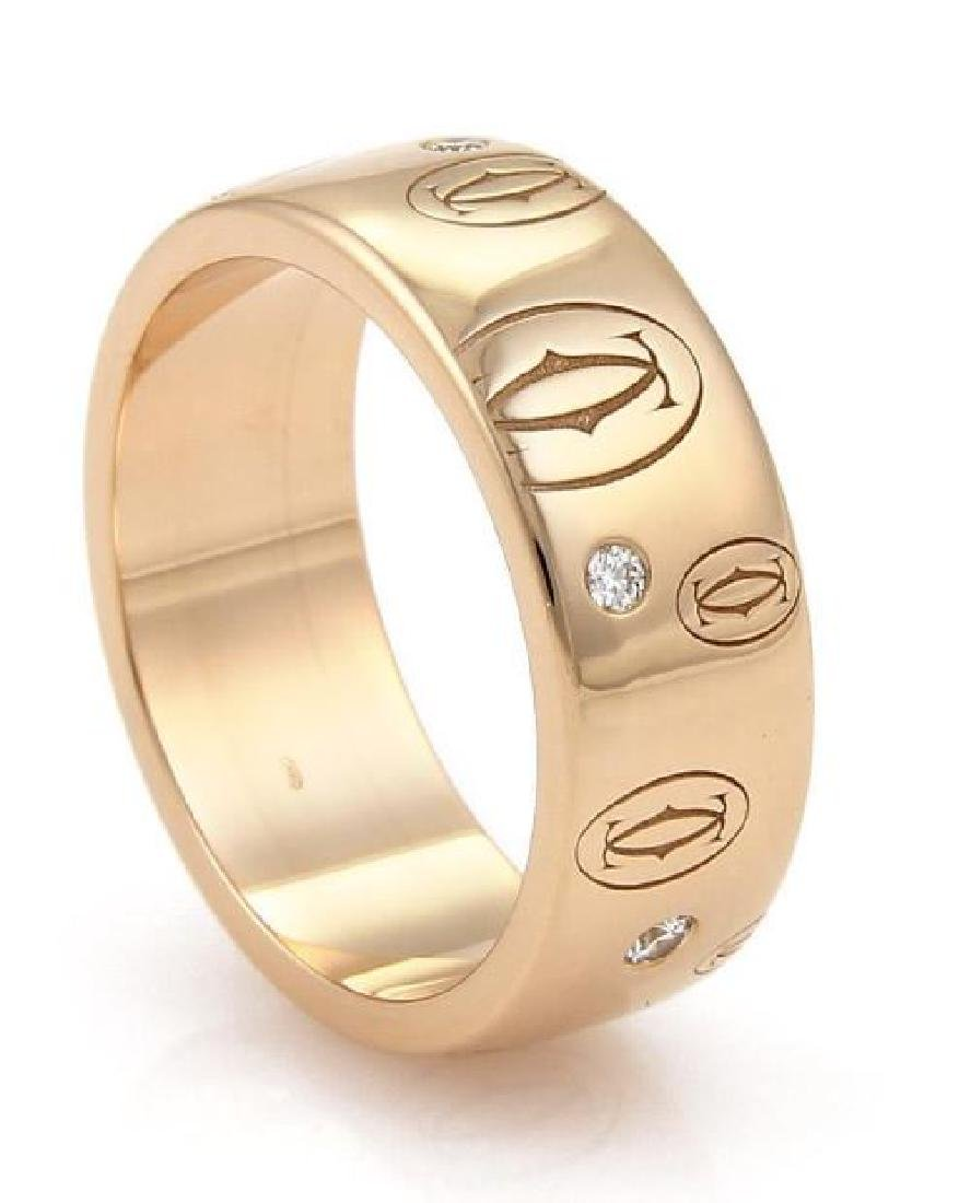 Cartier Happy Birthday Diamond 18k Gold Wide Ring - 3