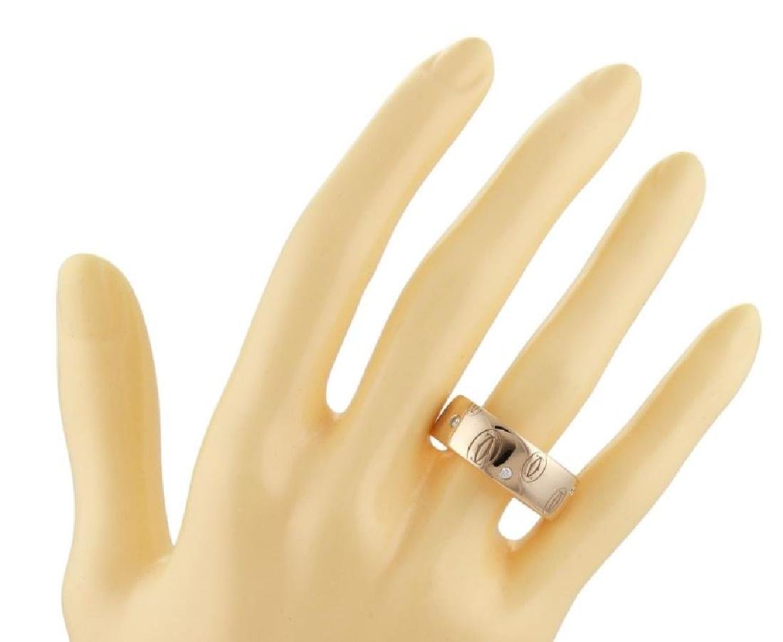 Cartier Happy Birthday Diamond 18k Gold Wide Ring - 4