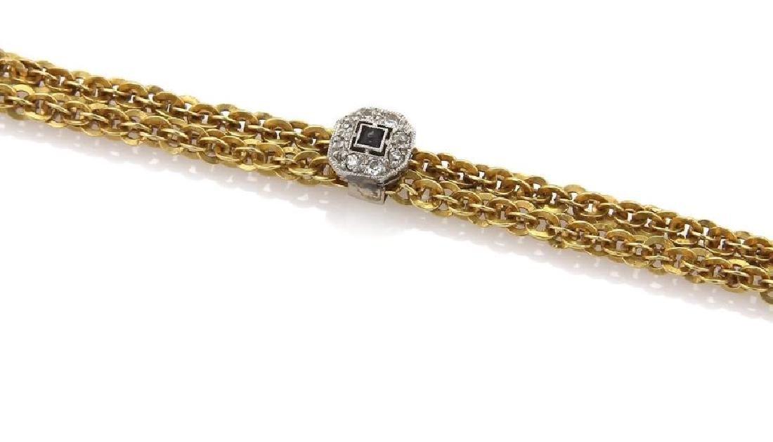 Diamond Gems 18k Gold Crown Pendant Necklace - 4