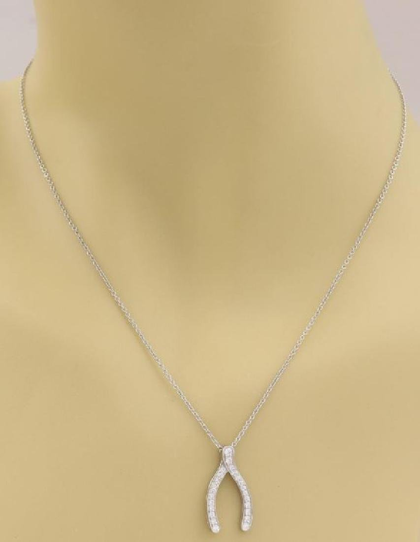 Tiffany & Co. Diamond Platinum Chain Necklace - 2