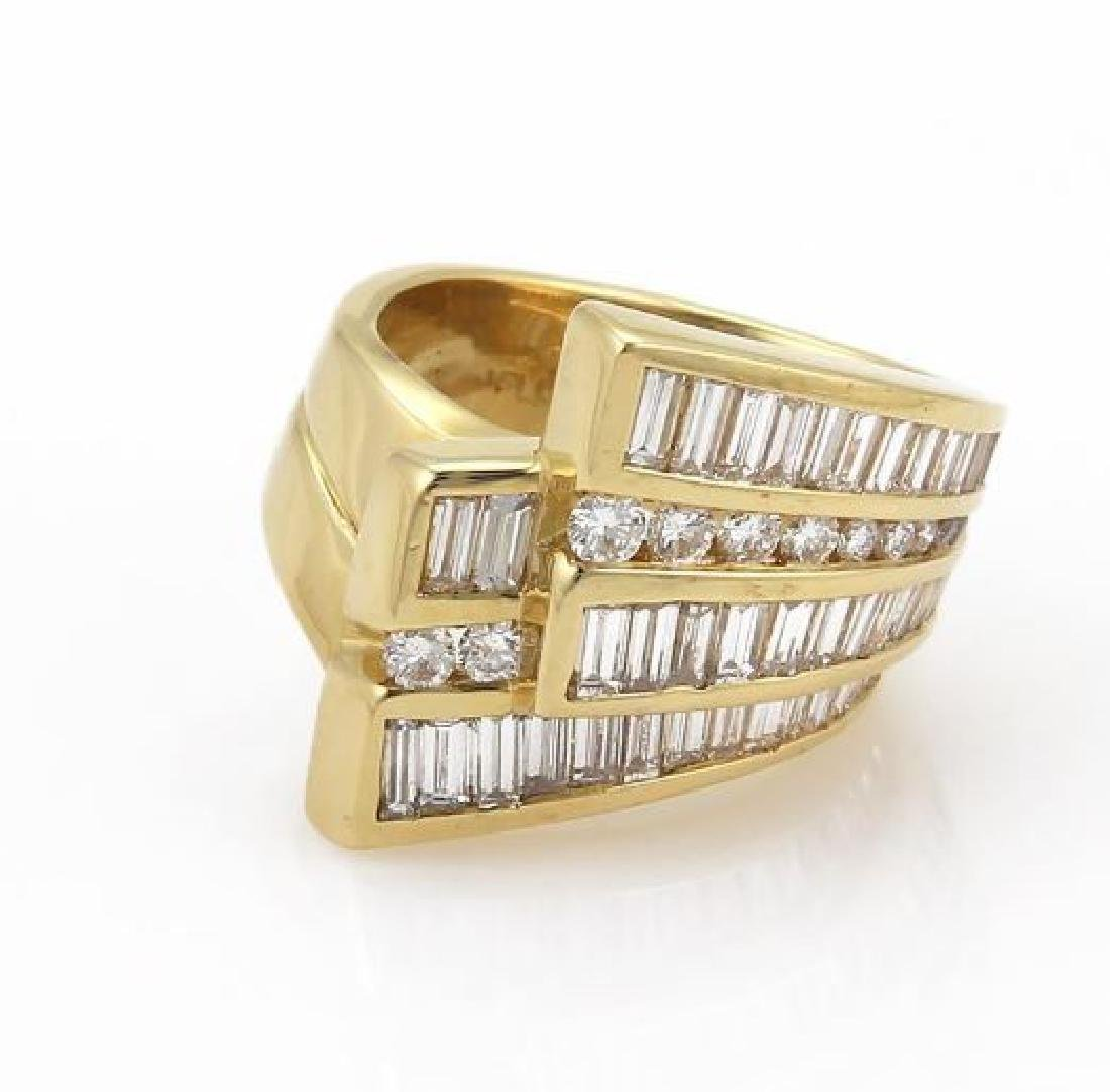 Charles Krypell Diamond 18k Gold Ribbon Band Ring