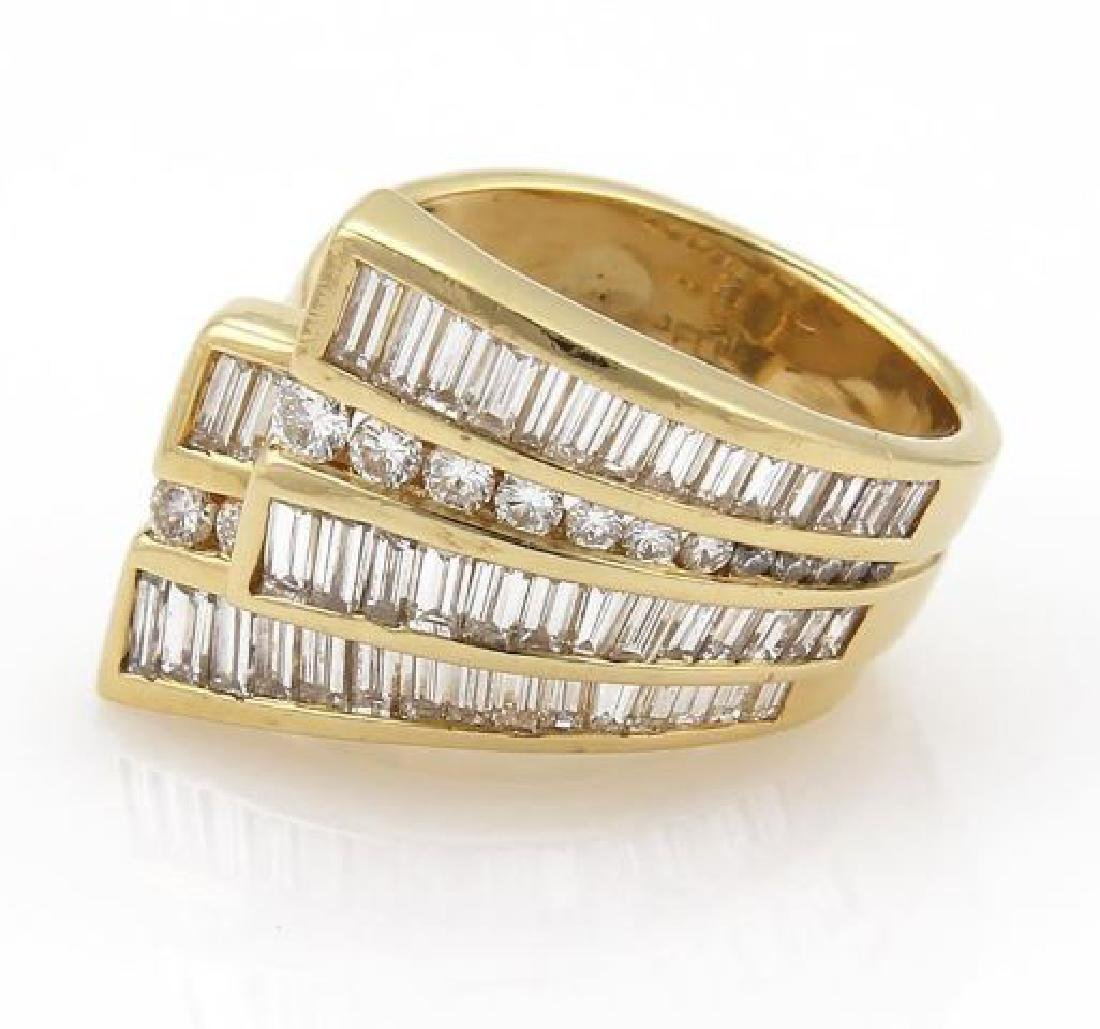 Charles Krypell Diamond 18k Gold Ribbon Band Ring - 2