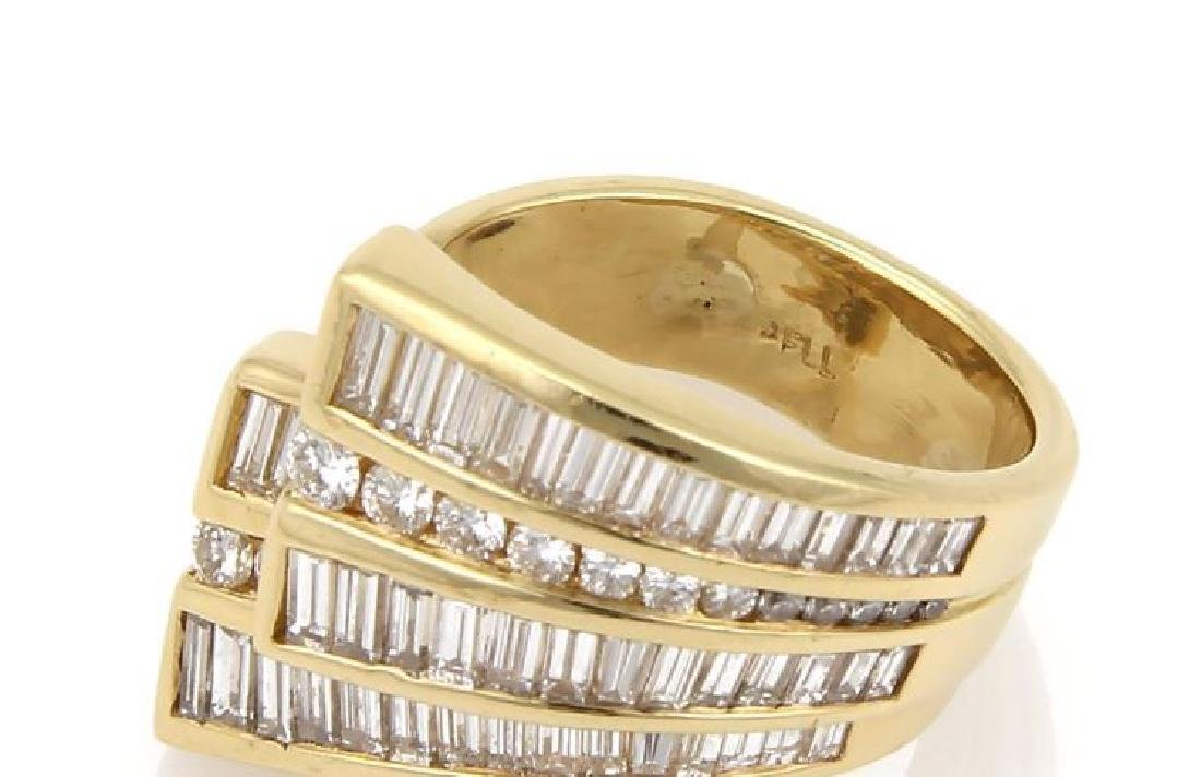Charles Krypell Diamond 18k Gold Ribbon Band Ring - 5