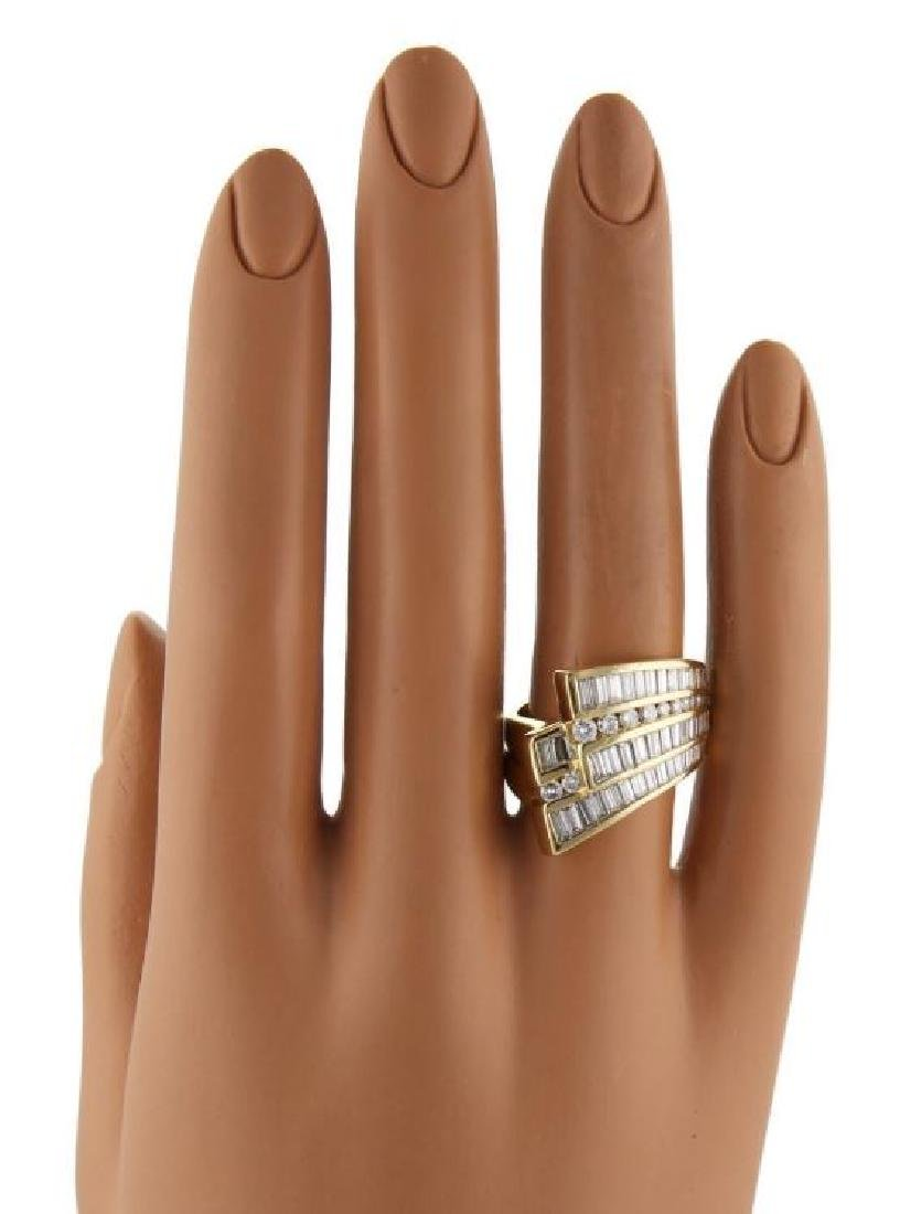 Charles Krypell Diamond 18k Gold Ribbon Band Ring - 6