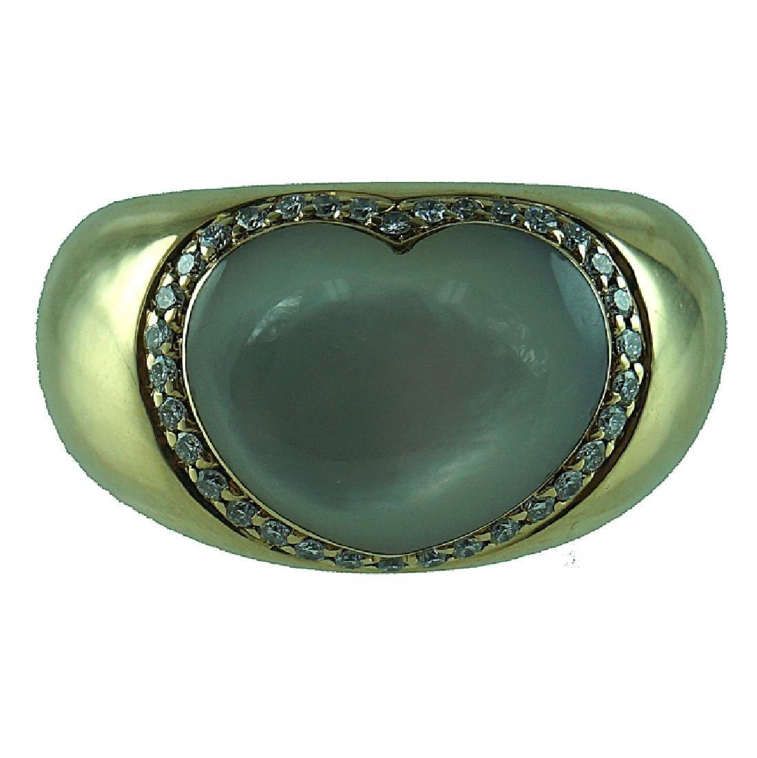Pasquale Bruni Diamond Heart MOP Ring.