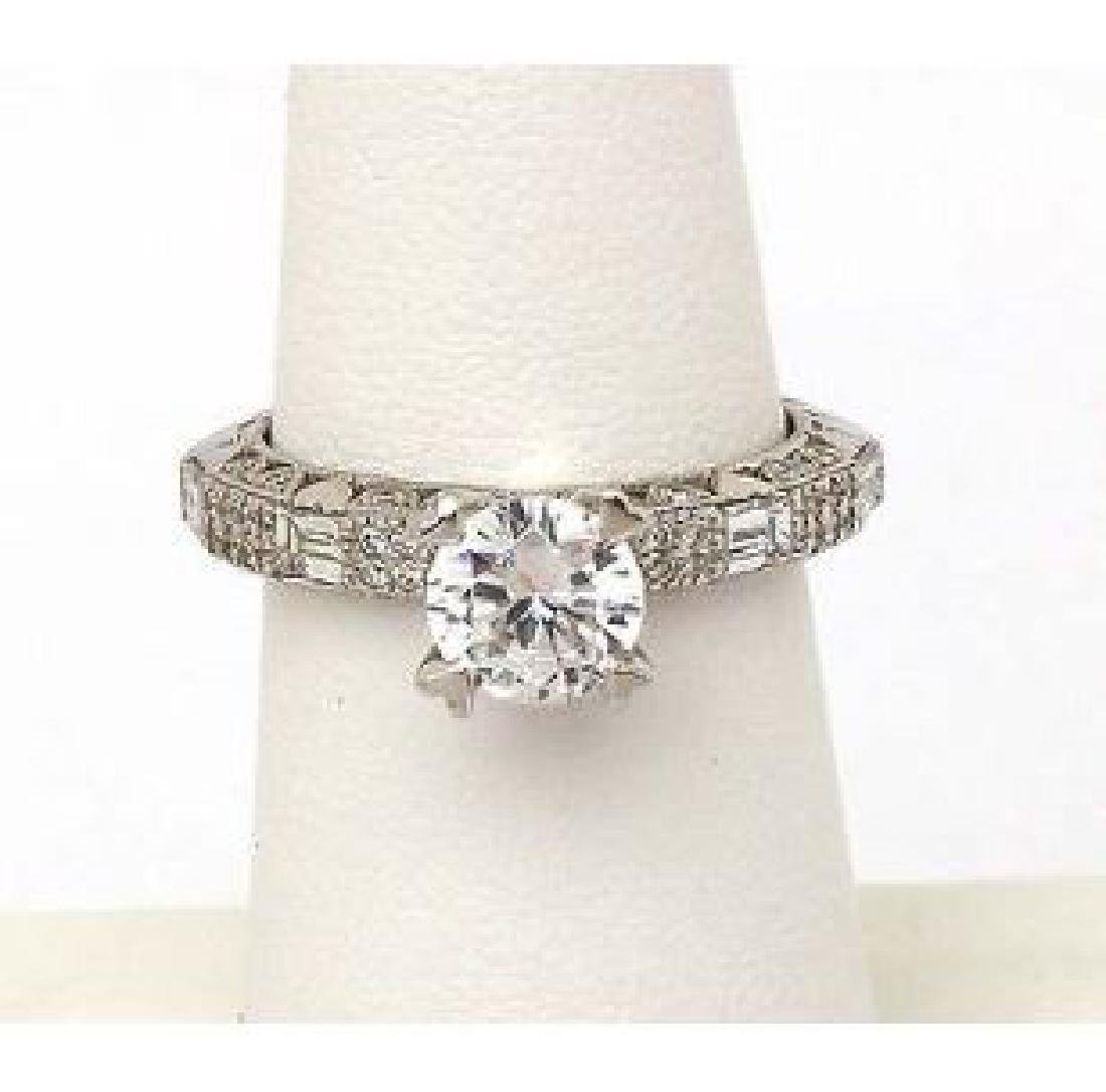 Tacori Platinum Diamond Heart Prongs Mounting Ring