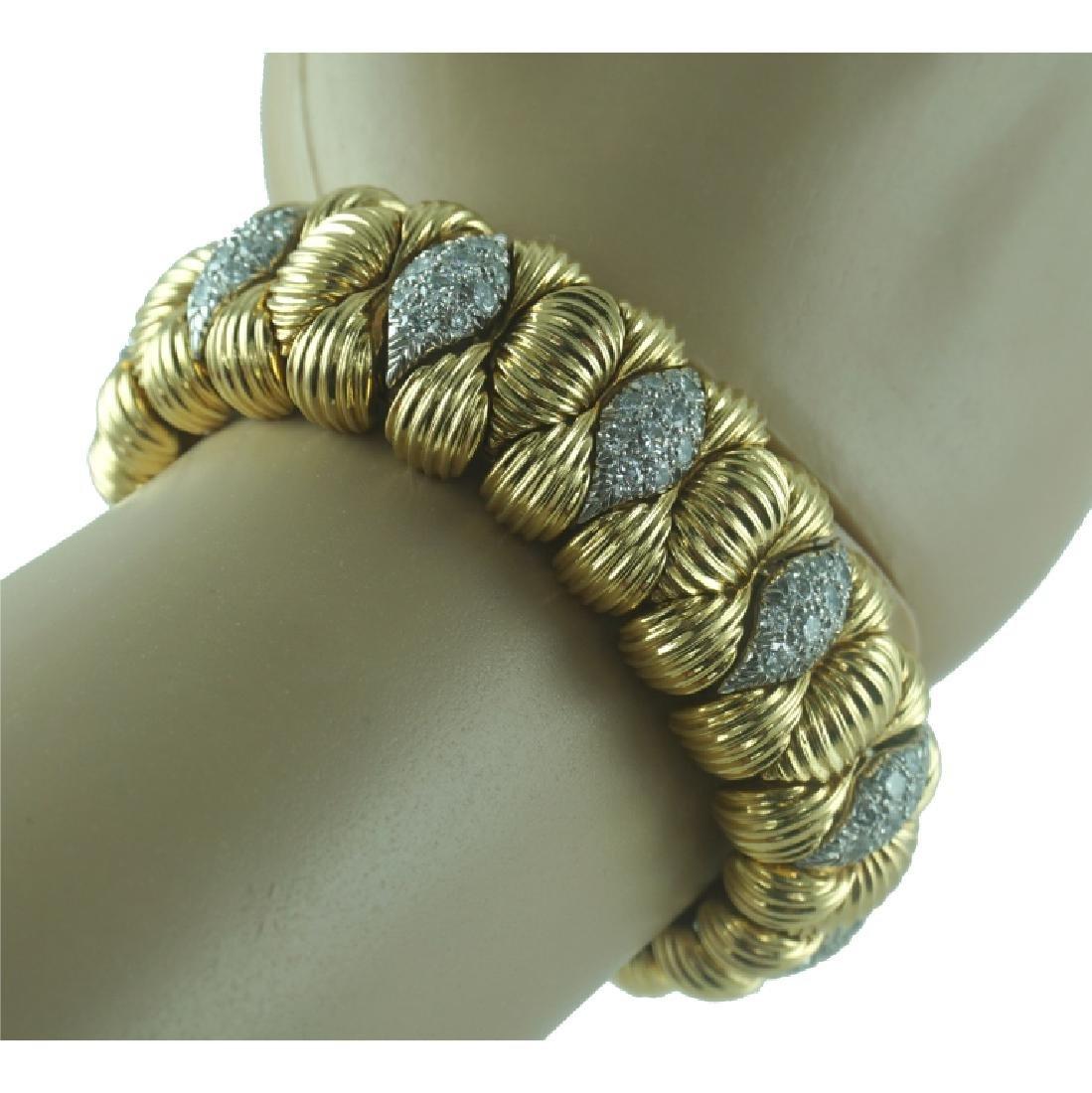 David Webb Diamond Cuff Bracelet.