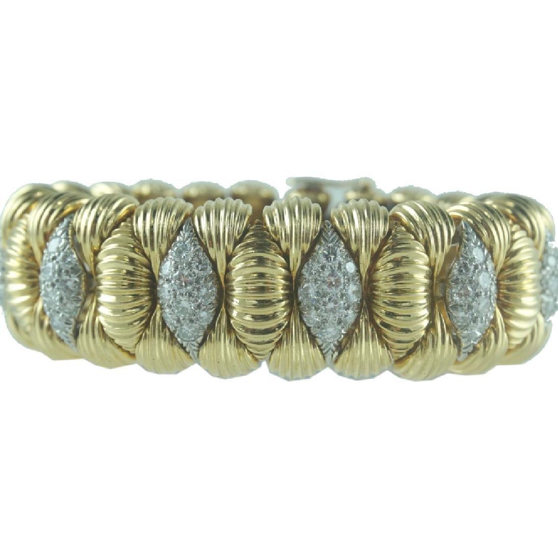 David Webb Diamond Cuff Bracelet. - 2