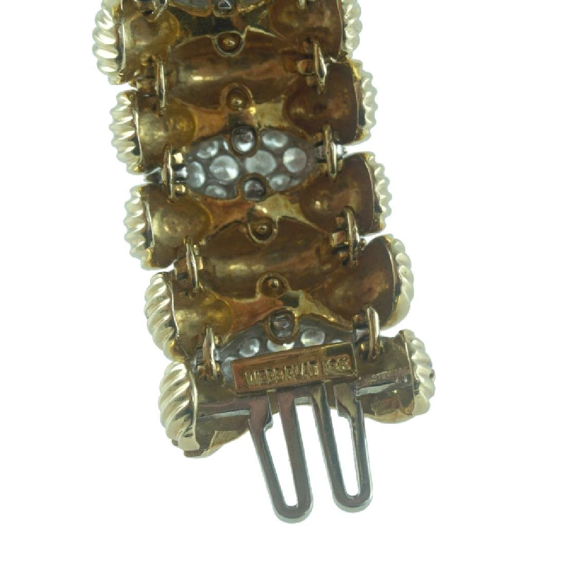 David Webb Diamond Cuff Bracelet. - 4