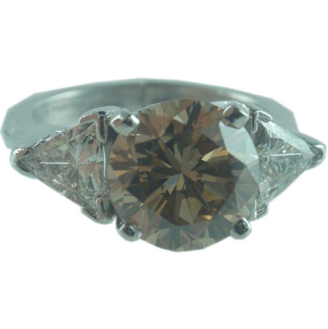 GIA Certified, 3.33 Fancy Yellowish Brown Diamond