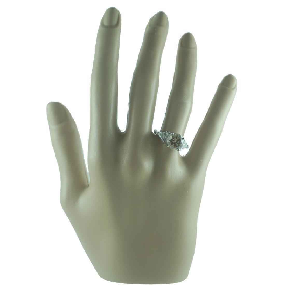 GIA Certified, 3.33 Fancy Yellowish Brown Diamond - 2
