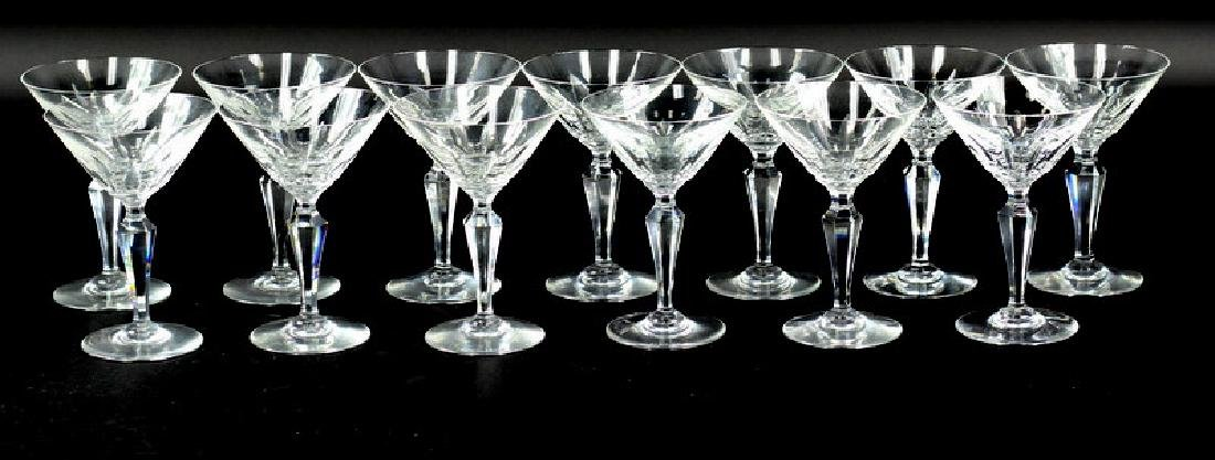 13) Thirteen Baccarat Piccadilly Goblets
