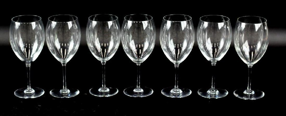 7 Pcs. Set of Baccarat Wine Glasses