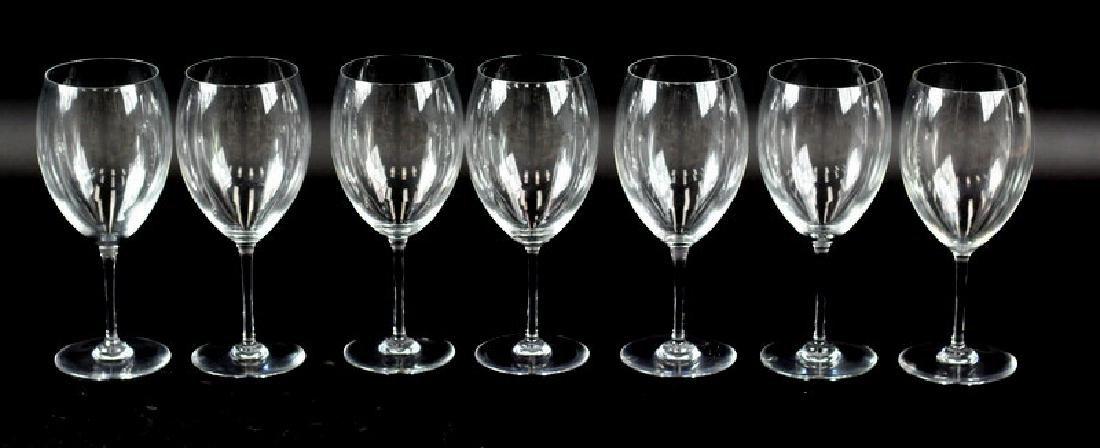 7 Pcs. Set of Baccarat Wine Glasses