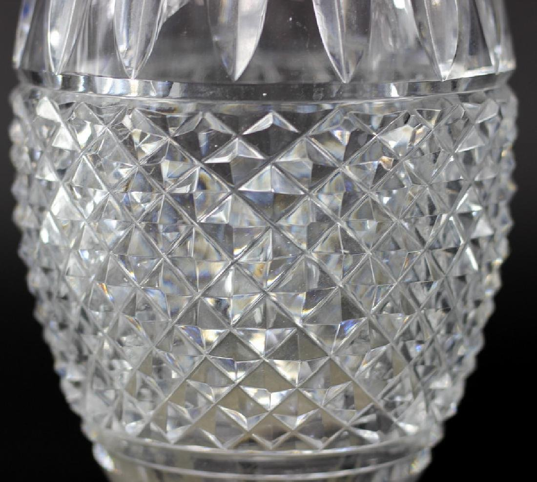 Pair of Waterford Style Large Cut Crystal Vase - 2