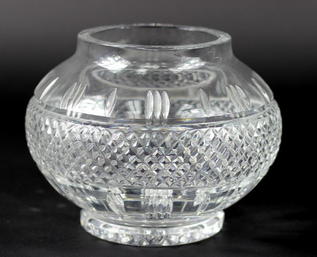 Waterford Style Cut Crystal Center Vase